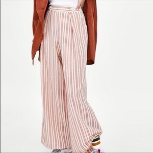 NWT's Zara Striped Wide Leg Pants Size Small S